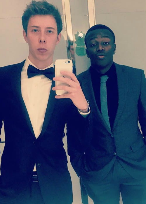 Calfreezy (Left) and KSI in an Instagram selfie in February 2017