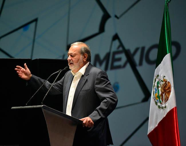 Carlos Slim Helu talking at Aldea Digital Mexico City, Mexico in 2013
