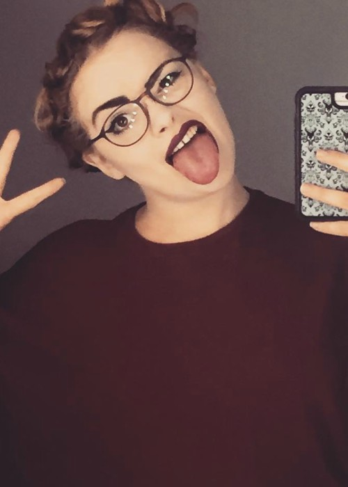 Carrie Hope Fletcher in a selfie in November 2017
