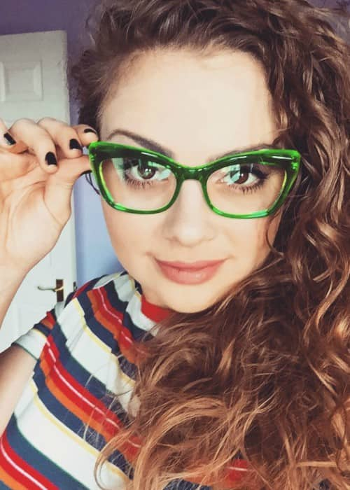 Carrie Hope Fletcher in an Instagram selfie as seen in March 2018