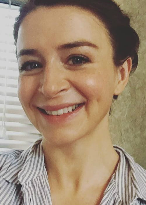 Caterina Scorsone in an Instagram selfie in October 2017