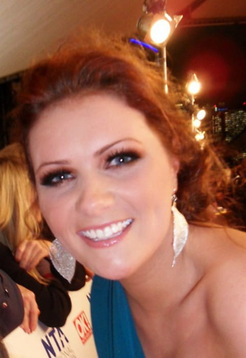 Chelsea Halfpenny at an award function as seen in January 2009