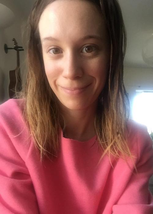 Chloe Pirrie in pink dress in March 2017 selfie