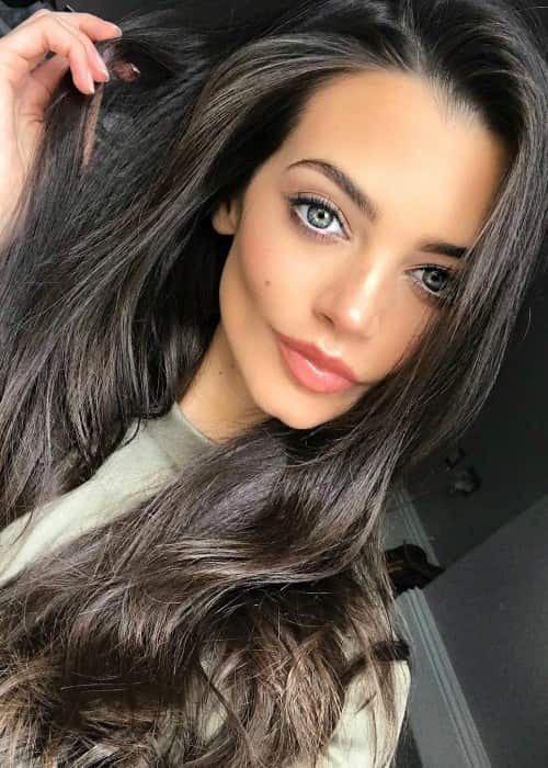 Emma McVey in a selfie in March 2018
