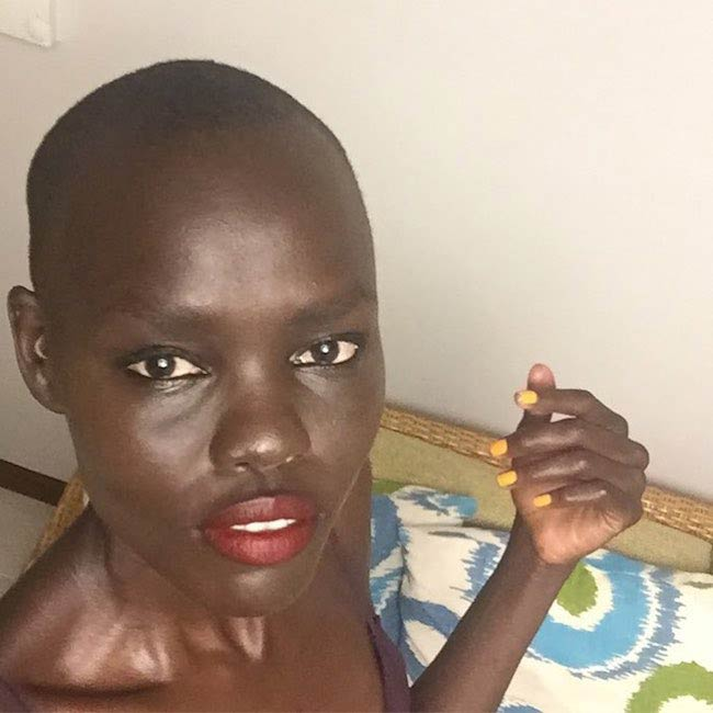 Grace Bol looking cute in a face closeup selfie in 2017
