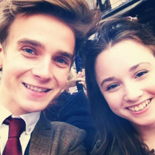 Grace Hogg-Robinson and Joe Sugg in a selfie in April 2014