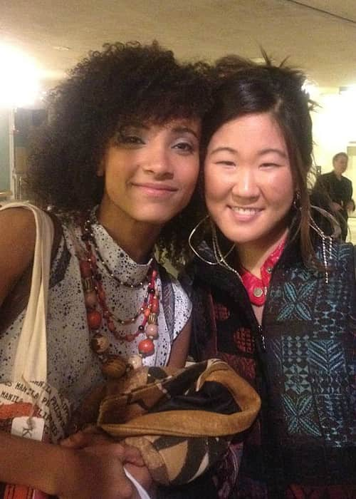 Grace Kelly (Right) and Esperanza Spalding as seen in April 2012