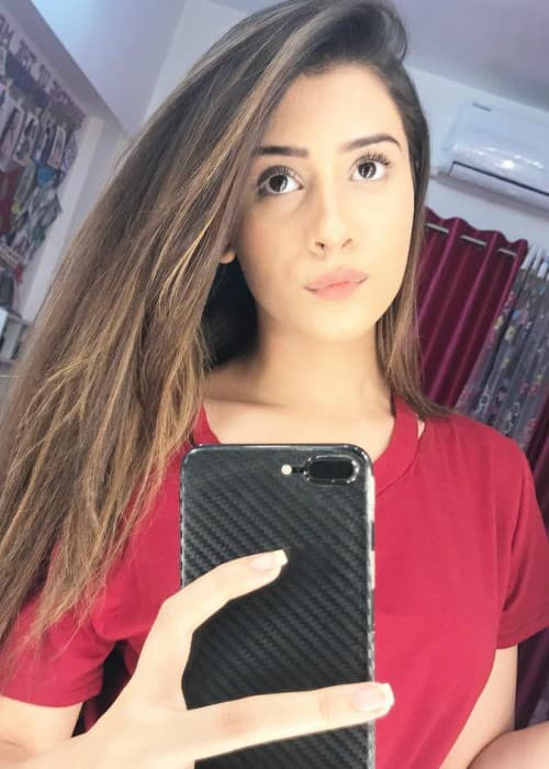Hiba Nawab in a selfie in November 2017