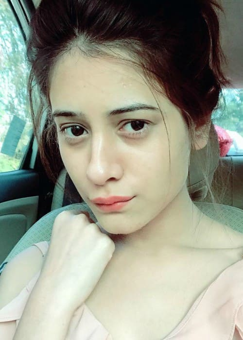 Hiba Nawab in an Instagram selfie as seen in February 2018