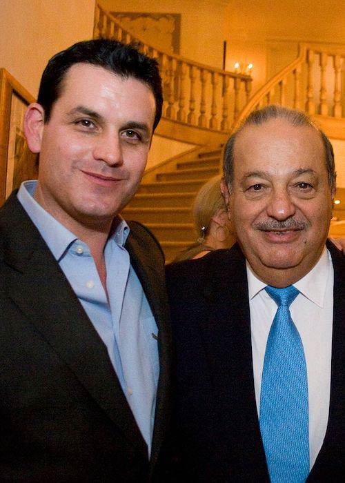 Investor Kurt Rappaport and Carlos Slim as seen in 2012
