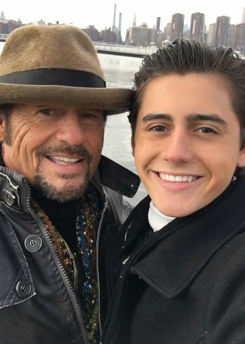 Isaak Presley (Right) in a selfie with his dad as seen in December 2017