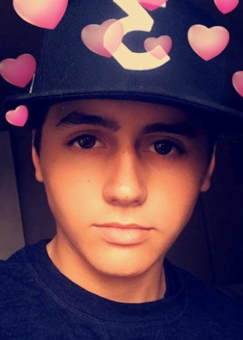 Isaak Presley in a selfie in October 2017