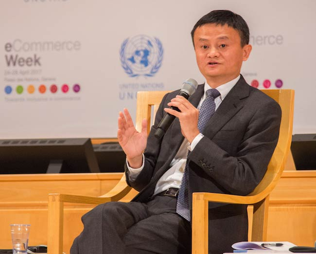 Jack Ma at UNCTAD eCommerce Week Conference on April 25, 2017