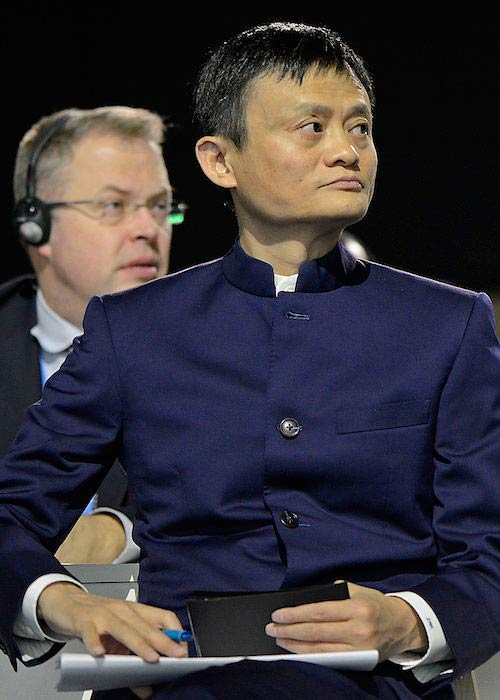 Jack Ma during the 2015 United Nations Climate Change Conference