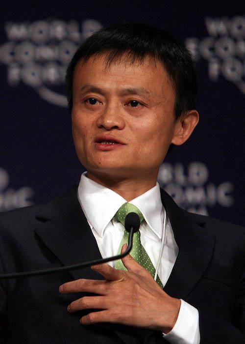 Jack Ma talking during World Economic Forum Annual Meeting in September 2008