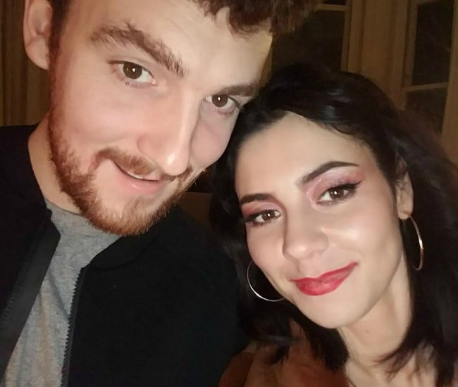 Jack Patterson and Marina Diamandis in a selfie in January 2018