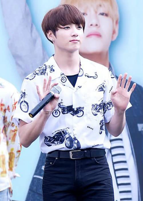 Jeon Jungkook at a Smart Uniform Campaign Event in Seoul in June 2016