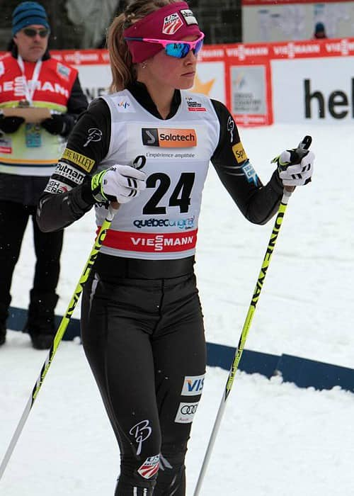 Jessie Diggins at the FIS Cross-Country World Cup in 2012