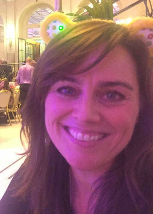 Jill Halfpenny at Len Goodman's tea dance in November 2016