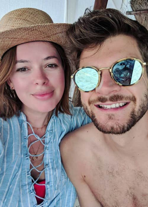 Jim Chapman and Tanya Burr as seen in November 2017