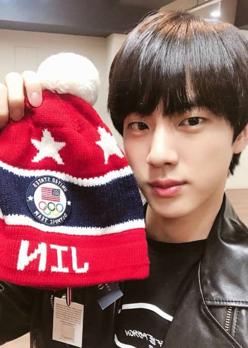 Jin in a selfie in March 2018