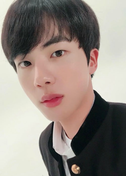Jin in an Instagram selfie as seen in February 2018