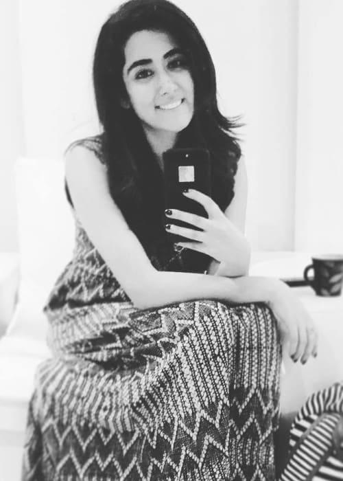 Jonita Gandhi in an Instagram selfie as seen in January 2018