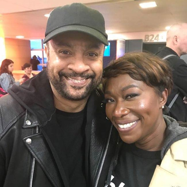 Joy-Ann Reid and Shaggy as clicked in March 2018
