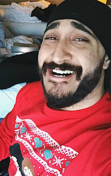 JusReign in a selfie on Christmas Day in 2016