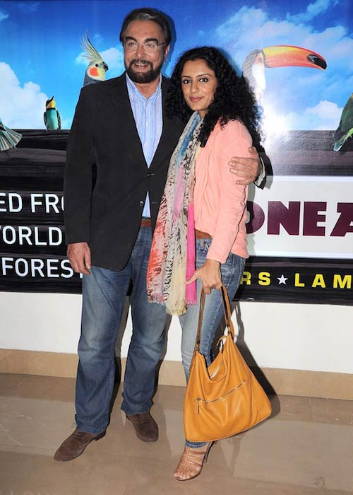 Kabir Bedi and Parveen Dusanj at the premiere of 'Rock Of Ages' in 2012