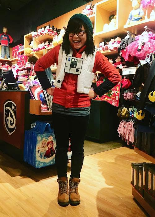 Kelly Marie Tran in a Disney store as seen in October 2017