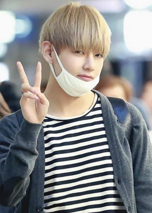 Kim Tae-hyung at Incheon International Airport on March 24, 2016