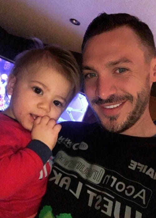 Kirk Norcross in a selfie with his son as seen in March 2018