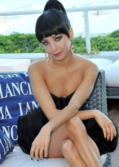 Ksenia Solo at the Lancia Cafè at the Venice Film Festival in September 2010