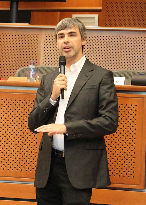 Larry Page in the European Parliament on June 17, 2009