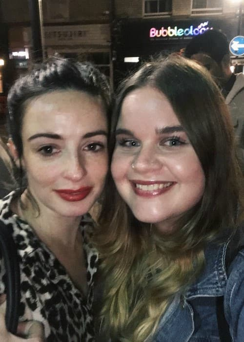 Laura Donnelly (Left) in a selfie with Sam Ball in January 2018