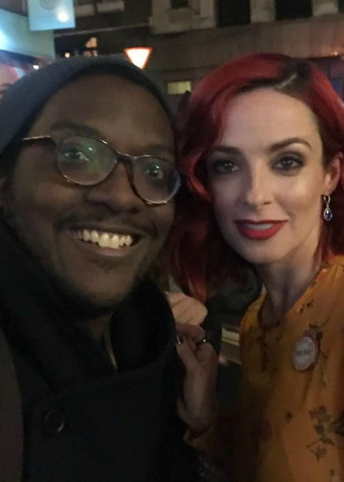 Laura Donnelly and Sam in a selfie in December 2017