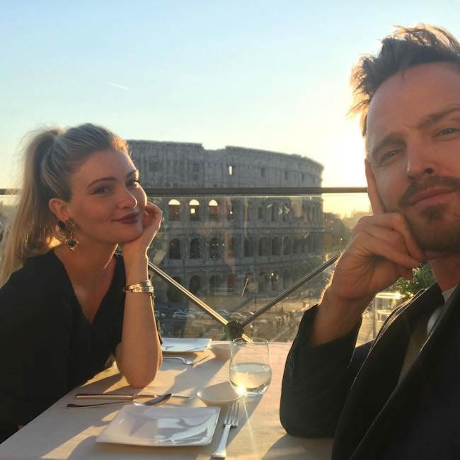 Lauren Parsekian and Aaron Paul on a date in June 2017