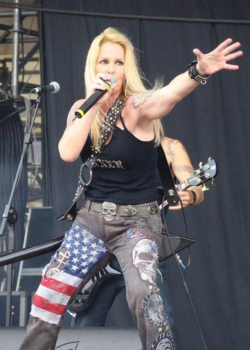 Lita Ford performing at Gods of Metal 2009 Day 1