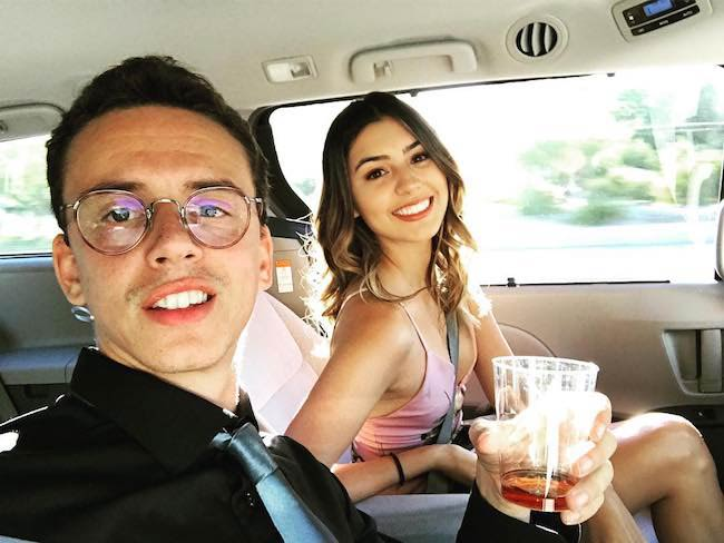 Logic with his wife Jessica Andrea on a date night in June 2017