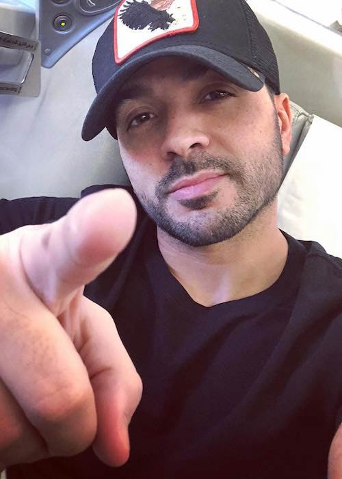 Luis Fonsi after giving performance in Rome in December 2017