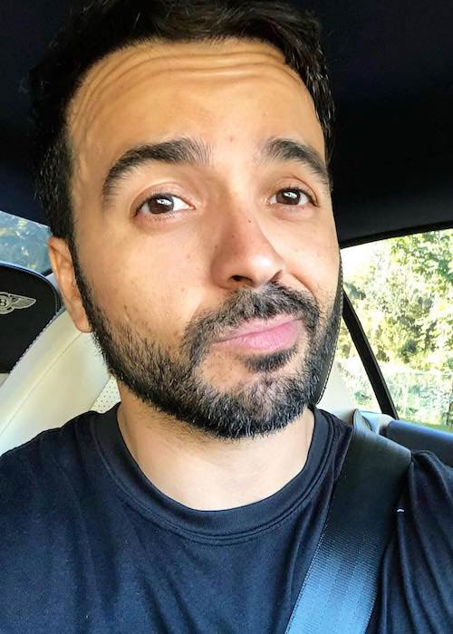 Luis Fonsi post morning workout selfie in January 2018