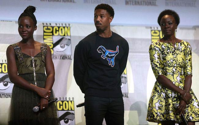 Lupita Nyong'o, Michael B. Jordan, and Danai Gurira at the 2016 San Diego Comic-Con International