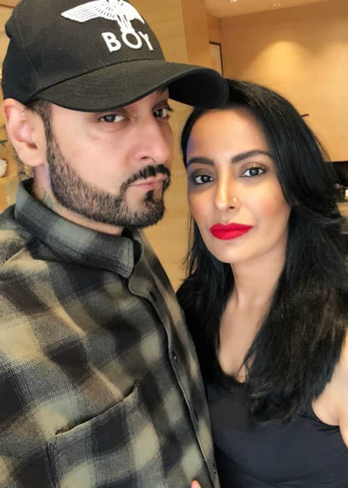 Manj Musik and Nindy Kaur as seen in March 2018