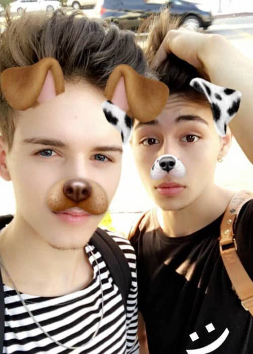 Michael Conor (Left) and Mikey Jimenez in a selfie in October 2017