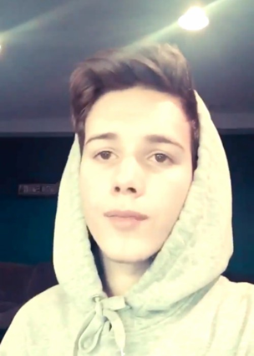 Michael Conor in a still from a selfie video in January 2016