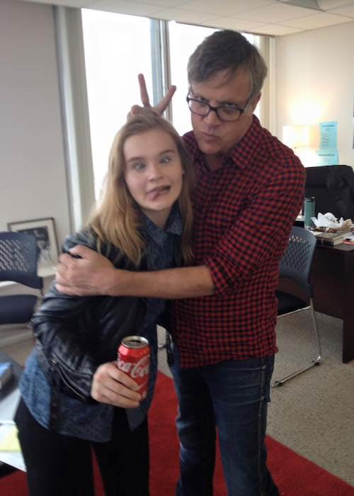 Morgan Jeanette Turner and director Todd Haynes while filming Wonderstruck in 2016