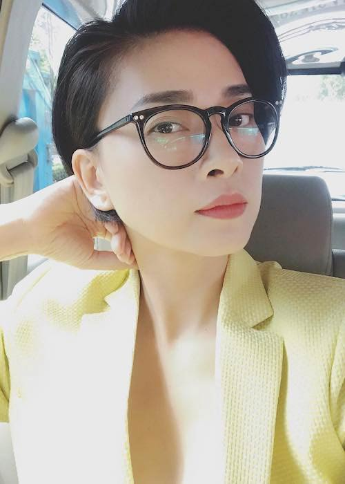 Ngo Thanh Van wearing suit in this January 2018 selfie