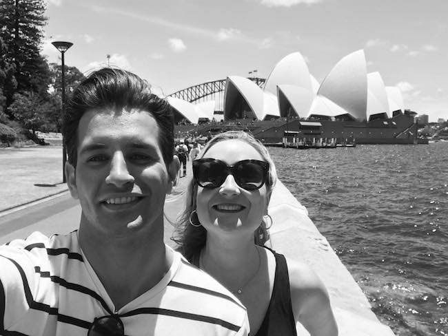 Ollie Locke and Emily Maddick in Sydney as seen in December 2017