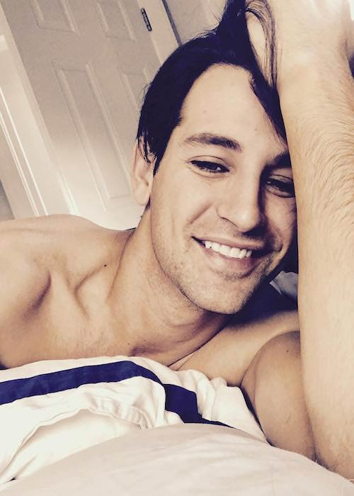 Ollie Locke in a carefree selfie in September 2017